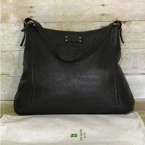 Kate Spade Brown Leather Hobo Shoulder Bag Handbag